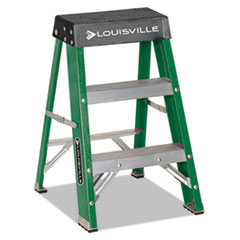 #624 Folding Fiberglass Locking 2-Step Stool, 17w X