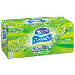 Pure Life Exotics Sparkling Water, Key Lime, 12 Oz Can,