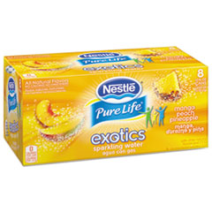 Pure Life Exotics Sparkling Water, Mango Peach Pineapple,