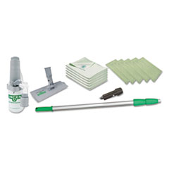 "Indoor Window Cleaning Kit, Aluminum, 72"" Extension Pole"