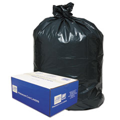 2-Ply Low-Density Can Liners, 55-60gal, .9mil, 38 X 58,