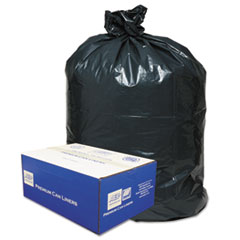 2-Ply Low-Density Can Liners, 40-45gal, .63 Mil, 40 X 46,