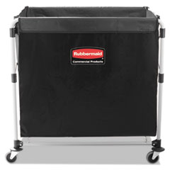 Collapsible X-Cart, Steel, Eight Bushel Cart, 24 1/10w X