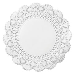"Cambridge Lace Doilies, Round, 10"", White, 1000/carton"