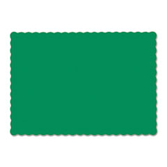 Solid Color Scalloped Edge Placemats, 9 1/2 X 13 1/2,