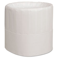 Pleated Chef's Hats, Paper, White, Adjustable, 7 In.