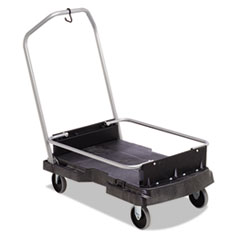 Ice-Only Cart, 500-Lb Cap, 21 2/5w X 39 1/10d X 15h, Black