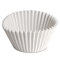 Fluted Bake Cups, 2 1/4 Dia X 1 7/8h, White, 500/pack, 20