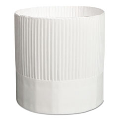 Stirling Fluted Chef's Hats, Paper, White, Adjustable, 7
