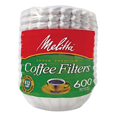 Basket Style Coffee Filters, Paper, 8 To 12 Cups,