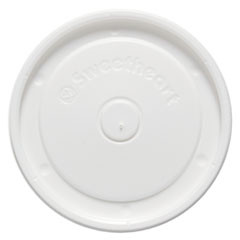 "Polystyrene Food Container Lids, White, 4.6"" Diameter,"