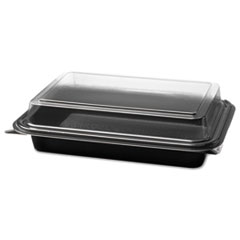Carryout Hinged Plastic Deli Boxes, 6.2 X 8.7 X 2.2,