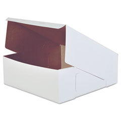 Bakery Boxes, White, Paperboard, 14 X 14 X 5,