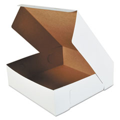 Bakery Boxes, White, Paperboard, 16 X 16 X 5,