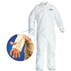 A40 Breathable Back Coverall With Thumb Hole, White/blue,