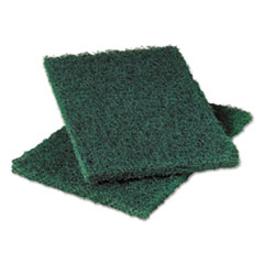 Heavy-Duty Commercial Scouring Pad 86, Dark Green,