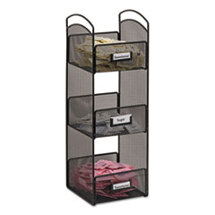 Onyx Breakroom Organizers, 3 Compartments, 6 X 6 X 18,