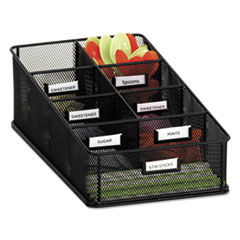 Onyx Breakroom Organizers, 7 Compartments, 16 X8 1/2x5