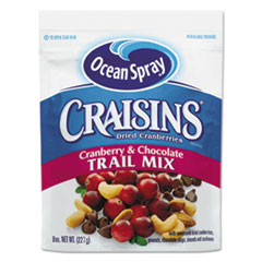 Craisins Trail Mix, Cranberry Chocolate, 8 Oz Bag, 12/carton