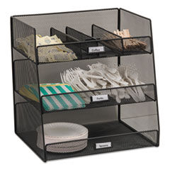 Onyx Breakroom Organizers, 3 Compartments,14.625x11.75x15,