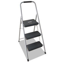 Black And Decker Steel Step Stool, Three-Step, 200 Lb