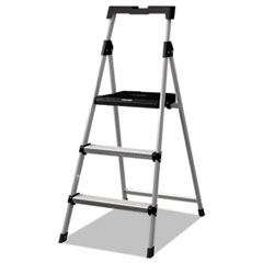 Aluminum Step Stool Ladder, 225 Lb Capacity, 20w X 31