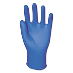Disposable Powder-Free Nitrile Gloves, Large, Blue,
