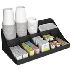 11-Compartment Coffee Condiment Organizer, 18 1/4 X