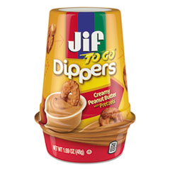 Dippers, Creamy Peanut Butter W/pretzels, 1.69 Oz Cup,