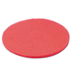 "404420 Standard Floor Pads, 20""Diameter, Red, 5/carton"