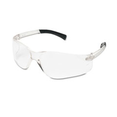Bearkat Safety Glasses, Wraparound, Black Frame/clear