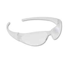 Checkmate Wraparound Safety Glasses, Clr Polycarb Frm,