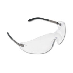 Blackjack Wraparound Safety Glasses, Chrome Plastic