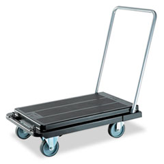 Heavy-Duty Platform Cart, 500lb Capacity, 21w X 32 1/2d