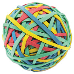 "Rubber Band Ball, 3"" Diameter,  Size 32, Assorted Colors,"