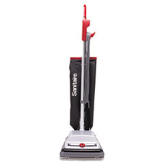 Heavy-Duty Upright Vacuum, 18lb, Black