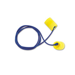 E A R Classic Earplugs, Corded, Pvc Foam, Yellow, 200