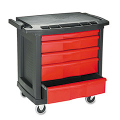 Five-Drawer Mobile Workcenter, 32 1/2w X 20d X