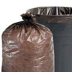 100% Recycled Plastic Garbage Bag, 55-60gal, 1.5mil, 38x60,