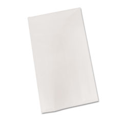 "Bio-Degradable Plastic Table Cover, 54"" X 108"", White,"