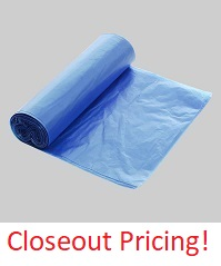 "24"" X 39"" 2.5 MIL(I.S.) BLUE OPAQUE POLY BAGS 200/CASE"