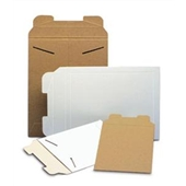 WHITE TAB-LOCK PAPERBOARD MAILERS